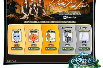 Get Your 'A' Game on with ABC Family's Pretty Little Liars and Disney's Ghosts of Mistwood Halloween Promotion