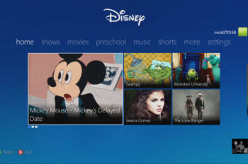Disney Launches New App for Xbox 360