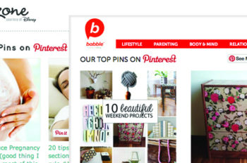 "Babble, Baby Zone Launch ""Top Pin"" Pages with Pinterest API"