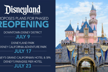 Disneyland Resort Proposes Plans to Begin Phased Reopening July 9, with Proposed Reopening of Theme Parks July 17